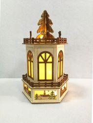 Corte láser LED hermosa casa de madera de Navidad decoración y regalo