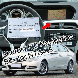 Android 6.0 Navigation GPS pour 2012-2014 Ntg4.5 Mercedes Benz Glk c-Class E-Class etc. avec WiFi Mirrorlink navigation en ligne etc.