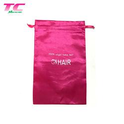 Confezione Periwig Pink Sample gratuita all'ingrosso fabbrica di sacchetti per stracci con prolunga per capelli satinati personalizzati