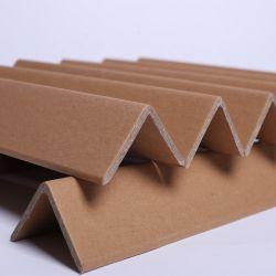 주문 로고에 의하여 브라운 인쇄된 골판지는 가장자리 널 Kraft 종이 깔판 가장자리 프로텍터 종이 포장 코너 프로텍터를 측향한다