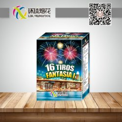 Gfcc20016A-0.8inch 16 Schuss-Verbraucher-im Freien preiswerte Pyrotechnik-Chinese-Kuchen-Feuerwerke