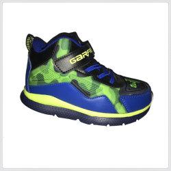 Los niños Los niños el deporte la ejecución de zapatilla zapatillas de baloncesto superior de la PU con toda la impresión de suela de EVA