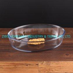 최상 오븐 안전한 타원형 유리제 Bakeware 굽기 접시 명부 1600ml