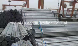 Buon prezzo rotondo/quadrato/ rettangolo nero e acciaio al carbonio dolce zincato Tubo per materiale da costruzione