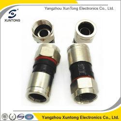 Connettore maschio impermeabile di compressione per il connettore del CCTV BNC dell'oro del cavo di Rg59 RG6