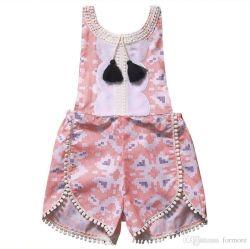 Оптовая торговля одеждой малыша Carters пуховые печать короткие втулки дешевой одежды Jumpsuit Jumpsuit Детского