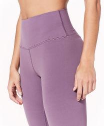 Ejercicio de elevación de cadera de la mujer Mostrar pantalones delgados y apretado, cintura alta y los pequeños pies Capris Yoga Pantalones Sportwear