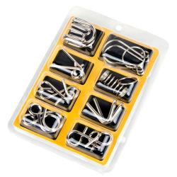 8PCS/установить металлические головоломки провод Iq во внимание мозга рекламный ролик Головоломки для детей взрослых Anti-Stress Reliever игрушки