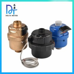 Metro ad acqua meccanico volumetrico d'ottone del pistone rotante del codice categoria C ISO4064 della plastica R160 con l'uscita di impulso