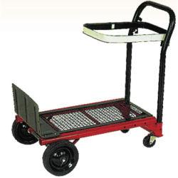 Maniglia Handtrolley dell'acciaio da utensili del giardino della fabbrica di buona qualità di Unfoldable con la rotella del solido 6inch