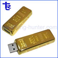 Regalo promocional USB flash driver USB de la barra de oro