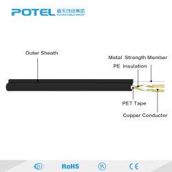 L'alta qualità 15FT 25FT ha protetto il collegare di telefono di twisted pair due