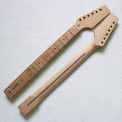 Unfertiger Paddel-Spindelkasten gebratener Ahornholz-Gitarren-Stutzen für Schutzvorrichtung-Gitarren