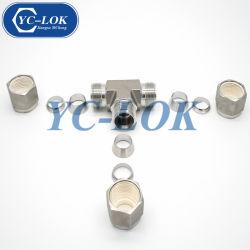 Férule Swagelok égale droites/coude/Tees/le tube transversal du raccord de tuyau