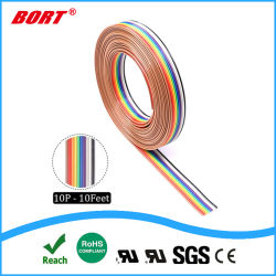 Rainbow RoHS ruban plat couleur de la broche CSA PVC fil UL2468