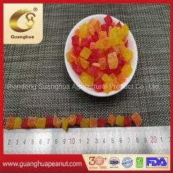Gemengde kleur gedroogde Papaya Dices verschillende smaken