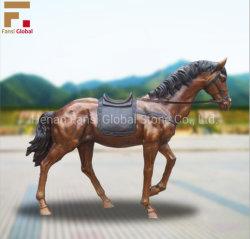 Kundenspezifische Garten-Tierbronzepferden-Statue-Metalskulptur-lebensgrosse Bronzepferden-Statue (GSBR-534)