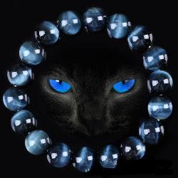 Natürliche blaue Tiger-Augen-Stein-Raupen für die Form-Schmucksache-Schmucksachen, die alle Größe Available6mm bilden