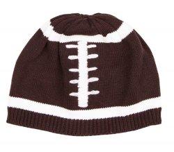 100% coton réglable à chaud d'hiver personnalisé de haute qualité brodé de bonneterie de football Beanie Hat