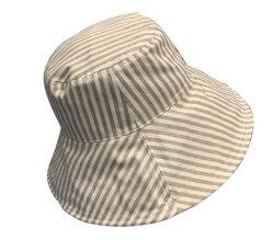ワイヤーリネン綿の流行の大きいバケツの帽子が付いているカスタマイズされた可逆縁