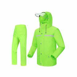 雨水パンツスーツスプリットレインコートキャンプ設備防水反射 ポインチョ折りたたみ式、防水ジャケット / パンツセット大人用ウィンドプルーフコート / パンツセットレイン