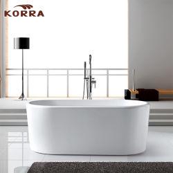 Акрил отдельно стоящая ванна с рамы из нержавеющей стали
