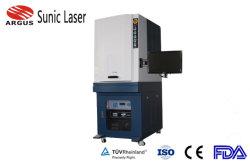 Hoge Configuratie die de UVLaser die van de Machine merken 3W 5W op Plastic Leer merken
