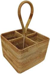 سلة الخيزران المصنوعة يدويًا سلل التخزين المقسّمة من Willow