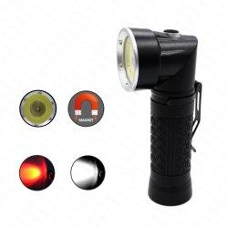 Tactical COB LED linterna con pinza de pluma de luz para camping