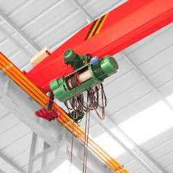 In China 10 Tonne gebildet 7 Meter-Überspannungs-einzelner Träger-Laufkran mit Siemens-Bewegungselektrischen Teilen
