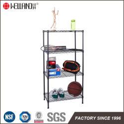 Multifunción 4 Tiers rejilla de alambre de metal para el almacenamiento de inicio