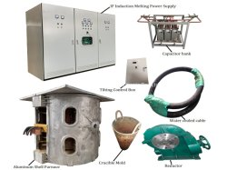La inducción eléctrica industrial horno de fundición de metal de oro plata cobre acero hierro fundición de aluminio