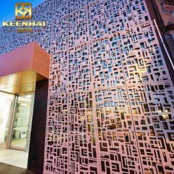 Parete divisoria tagliata laser della facciata perforata decorativa dell'alluminio (Keenhai-CW017)