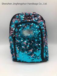 Novo azul brilhar Sequin Fashion Bonitinha Backpack Bag para meninas