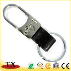 Anello chiave in lega di zinco di cuoio della catena chiave dell'unità di elaborazione di Caldo-Vendite