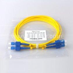 Sc-Sc Sm G652D El cable de fibra óptica dúplex dúplex con abrazadera y la identidad digital