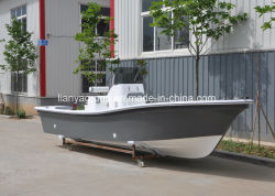 Liya 19ft barcos de pesca de la consola central de fibra de vidrio