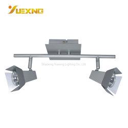 2*GU10 LED Satin-Nickel-Decken-Lampen-Farbton-Punkt-Beleuchtung der Birnen-3W 5W des Scheinwerfer-400lm 220V 240V quadratische