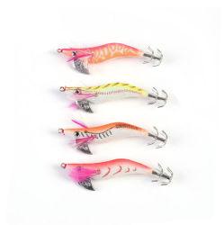 Jig calamares gambas camarones luminosa señuelos de plástico de Bionic Kit de Camarón señuelos artificiales Pulpo Sepia Anzuelos cebo de pesca