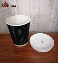 Xícara de café de papel descartável com tampa de papel para 8 oz, 12oz e 16oz para substituir a tampa de plástico