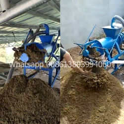 De Machine van de Verwerking van Wast van het gevogelte/de Ontwaterende Machine van de Mest van de Koe van de Separator van de Vaste-vloeibare stof voor het Gebruik van het Huis 220V