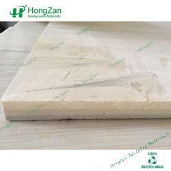 Salle de bains en marbre de panneaux muraux Honeycomb de pierre