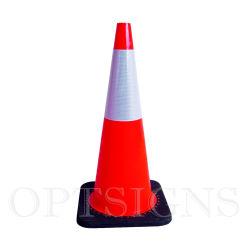 """Para Serviço Pesado de 28"""" Preto-Laranja PVC reflexiva da base do cone de tráfego"""