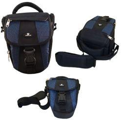 黒くか青の工場携帯用きれいなDSLR小さいカメラの箱のホルスター袋