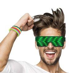 2020 Óculos LED piscante programáveis Mais Recente Rave Copos
