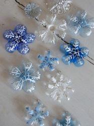 2020 Snowflakes Plástico Natal branco azul