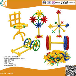 Les enfants de briques de jouets éducatifs en plastique