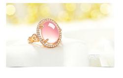 As mulheres do anel de jóias de ouro de Rosa Ajustável Aberto Jóias