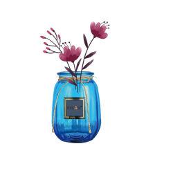 قبعات وزهور الزجاج الأزرق بلون الكوبالت والزهرة للديكور المنزلى