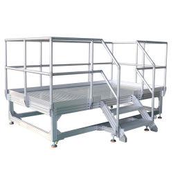 알루미늄 기계 유지보수 플랫폼 사다리 조립 단계 통로 플랫폼